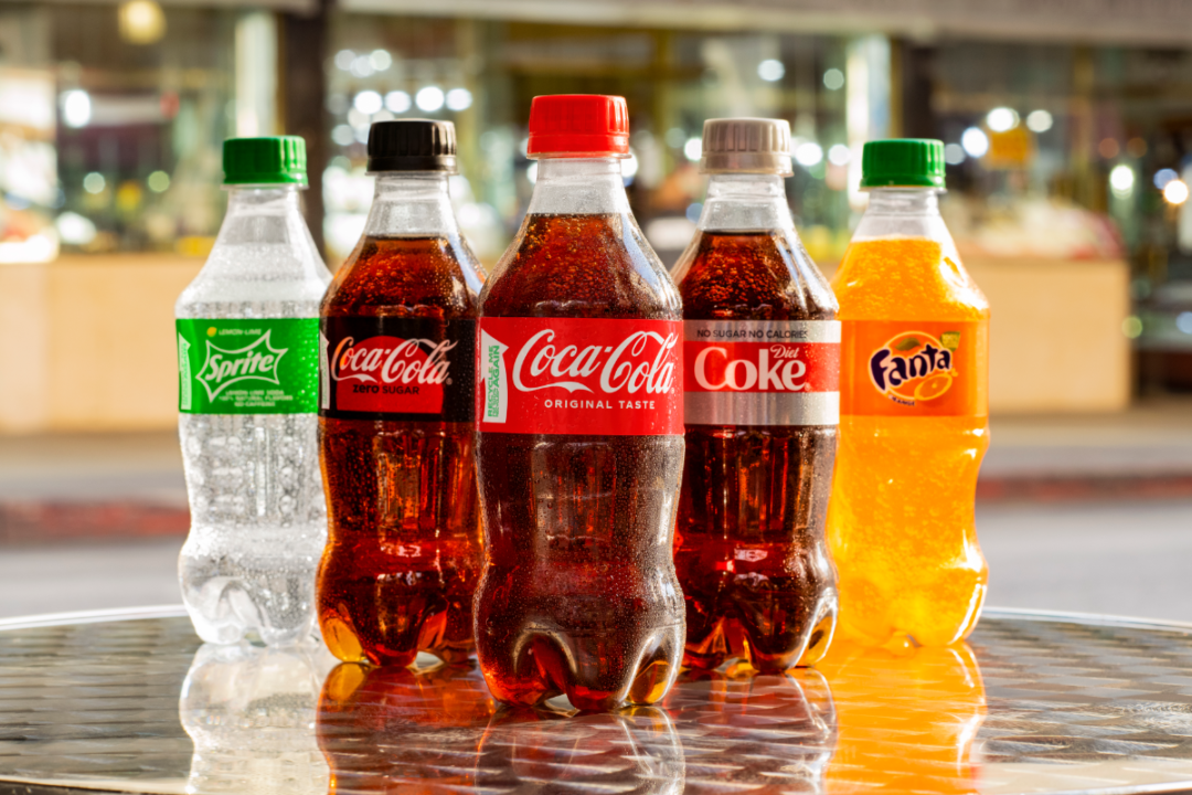 Coca-Cola recyclable bottles