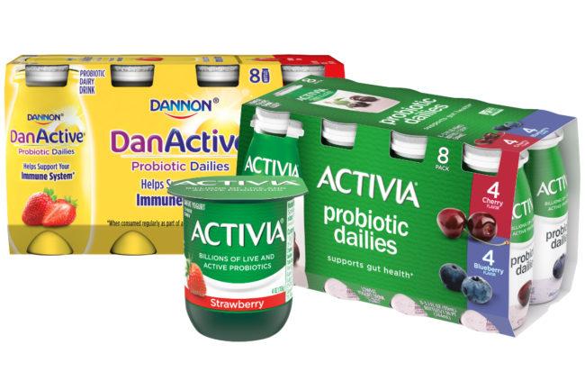 Danone probiotic products