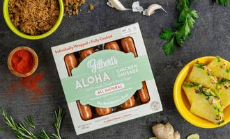 Gilberts aloha chicken sausage lead