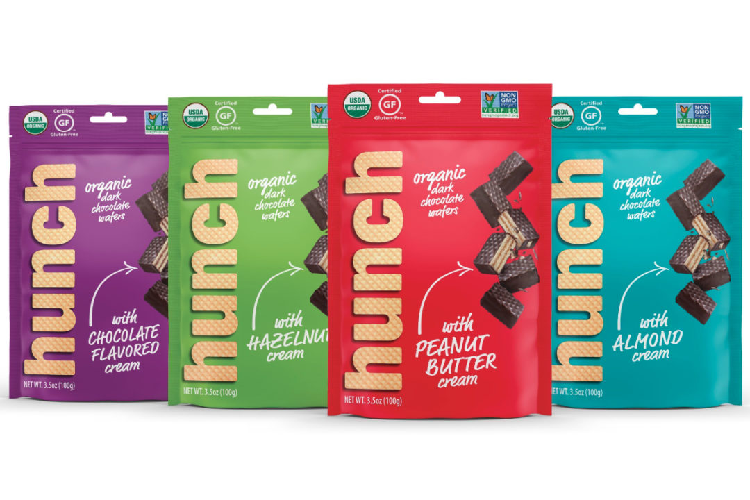 Hunch Snacks chocolate covered wafer bites