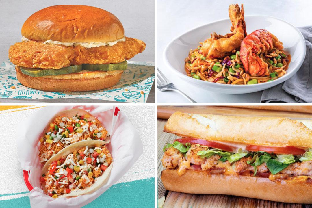 New seafood menu items
