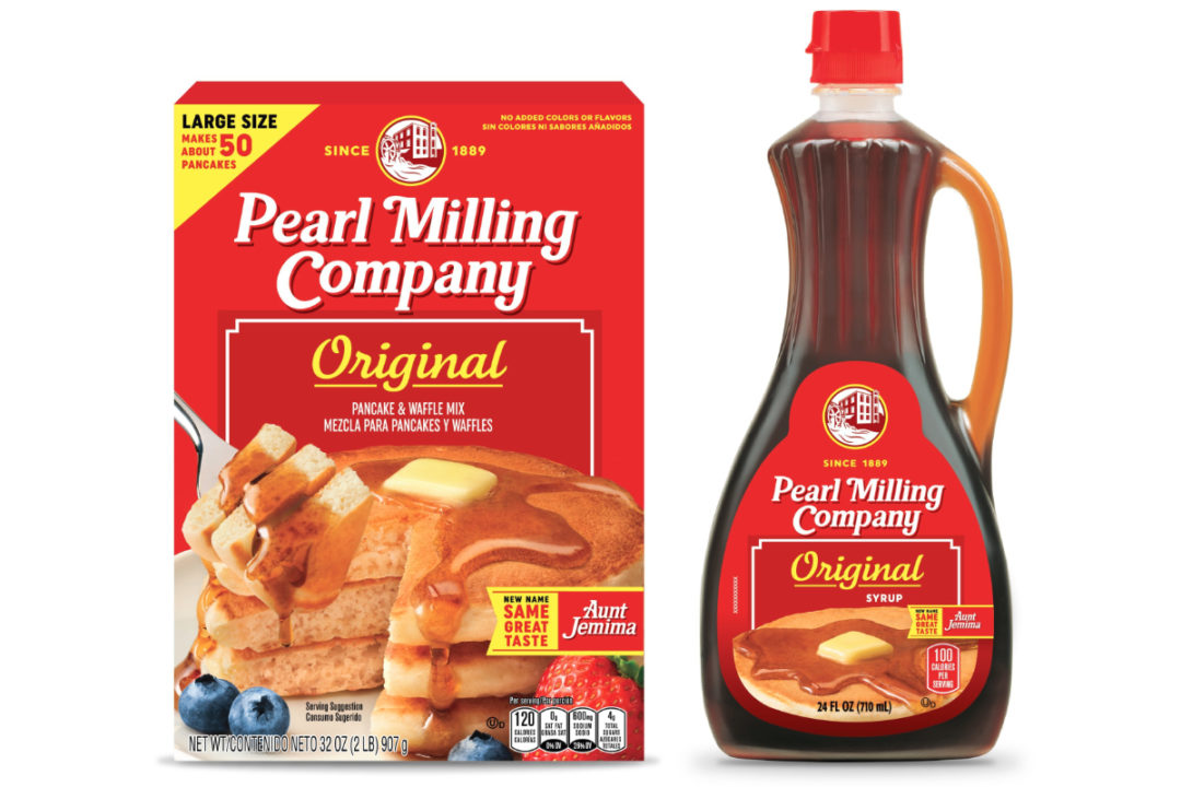 Pearl Milling Co. pancake mix and syrup