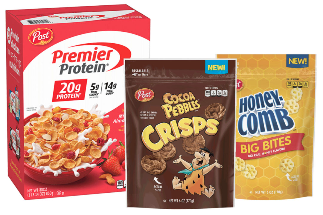 Premier Protein Cereal and Post Cereal Snacks