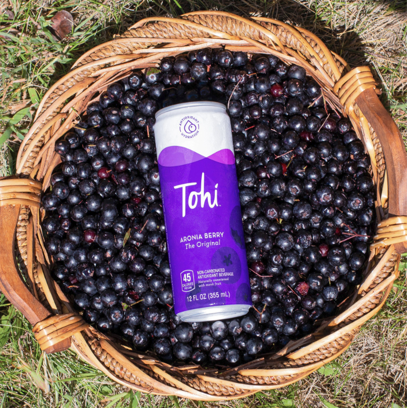 Tohi Ventures beverage in aronia berries