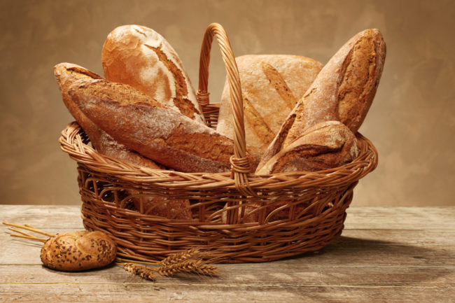 Basket of various types of bread