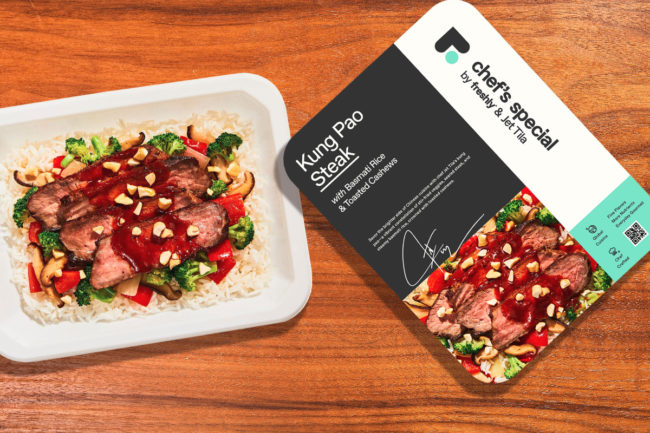 Chef's Special by Freshly Chef Jet Tila's Kung Pao steak with basmati rice and toasted cashews