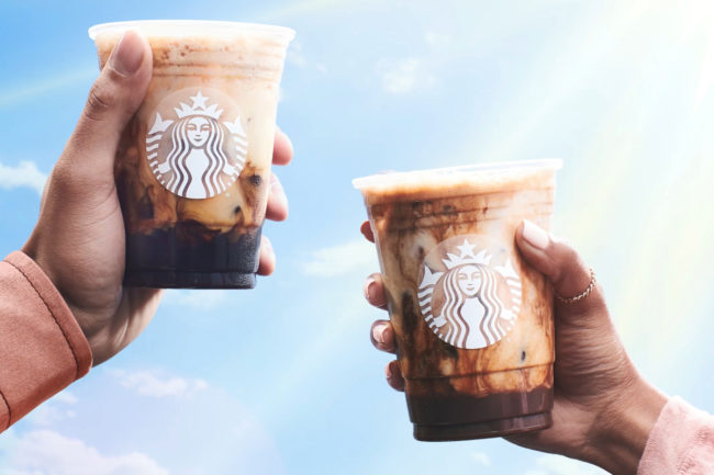Starbucks iced shaken espresso beverages