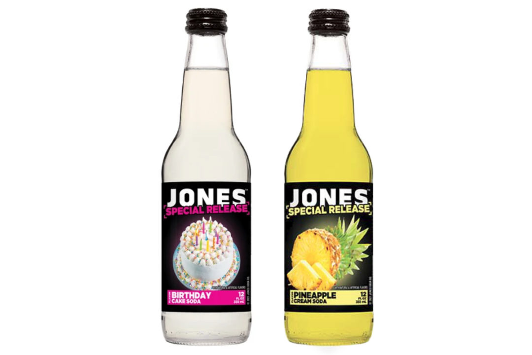 Jones Soda Special Release Birthday Cake and Pineapple Cream sodas