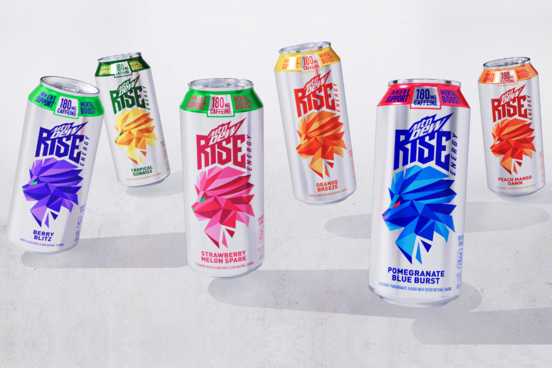 Mtn Dew Rise Energy drinks
