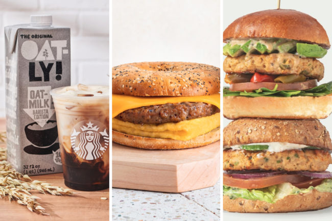New plant-based menu items from Starbucks, Peets Coffee and Bareburger