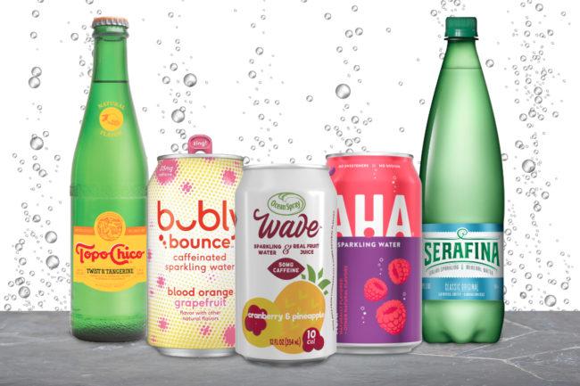 New sparkling water beverages