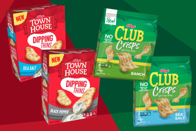 Kellogg Town House Dipping Thins and Club Crisps