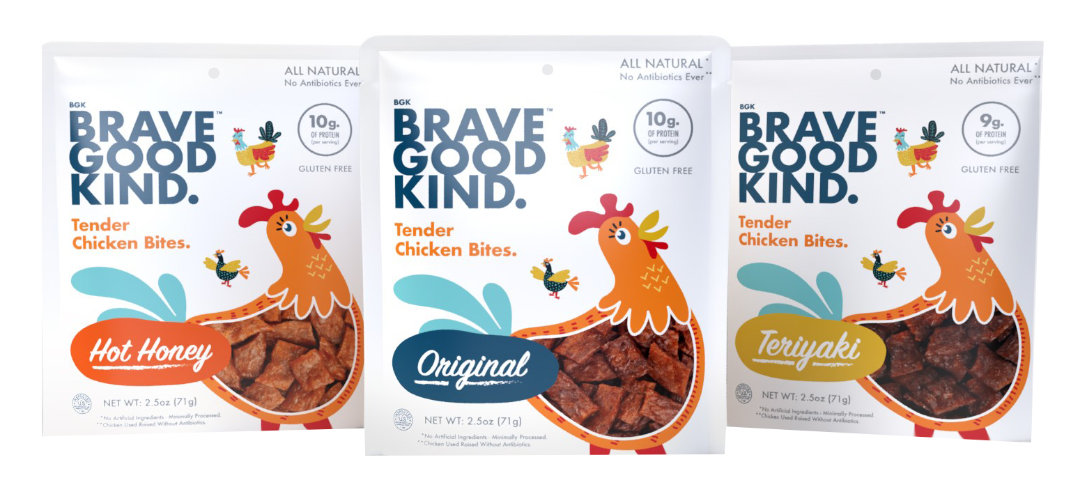 Gluten-free chicken bites from Brave Kind Good