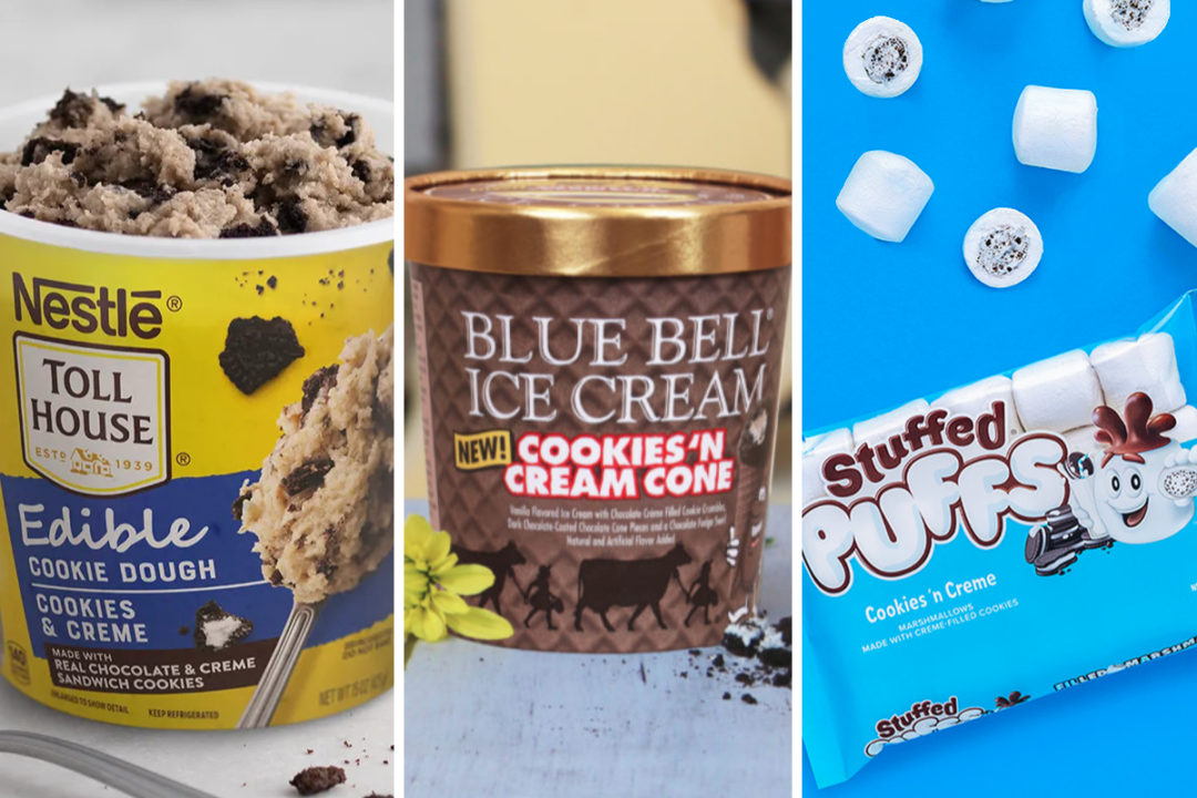 Cookies and cream flavored new products
