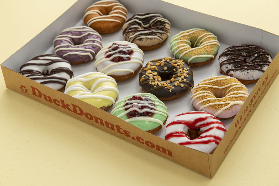 Duck Donuts spring assortment