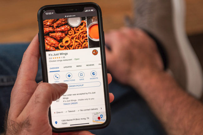 It's Just Wings mobile order