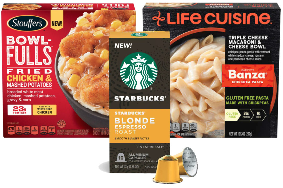 Stouffers, Life Cuisine and Starbucks Nespresso products from Nestle