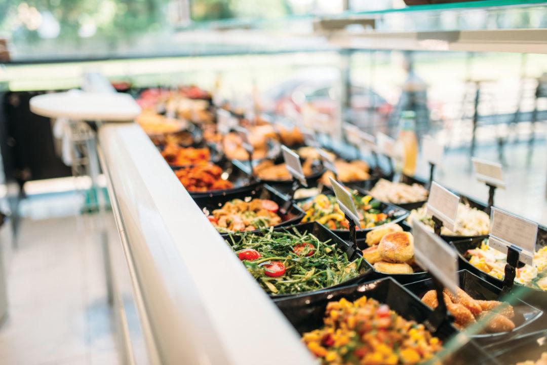 Supermarket food bar