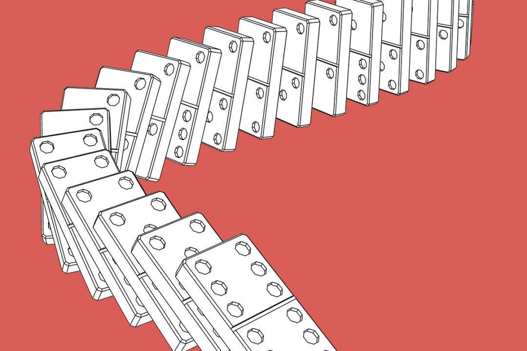 Crisis management domino effect concept