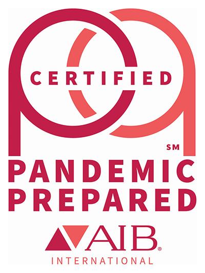 Logotipo de certificación preparada para pandemias de AIB
