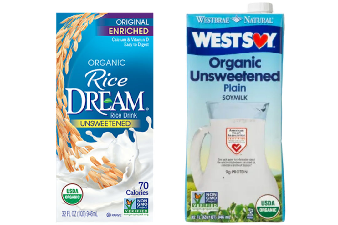 Rice Dream and WestSoy plant-based milks