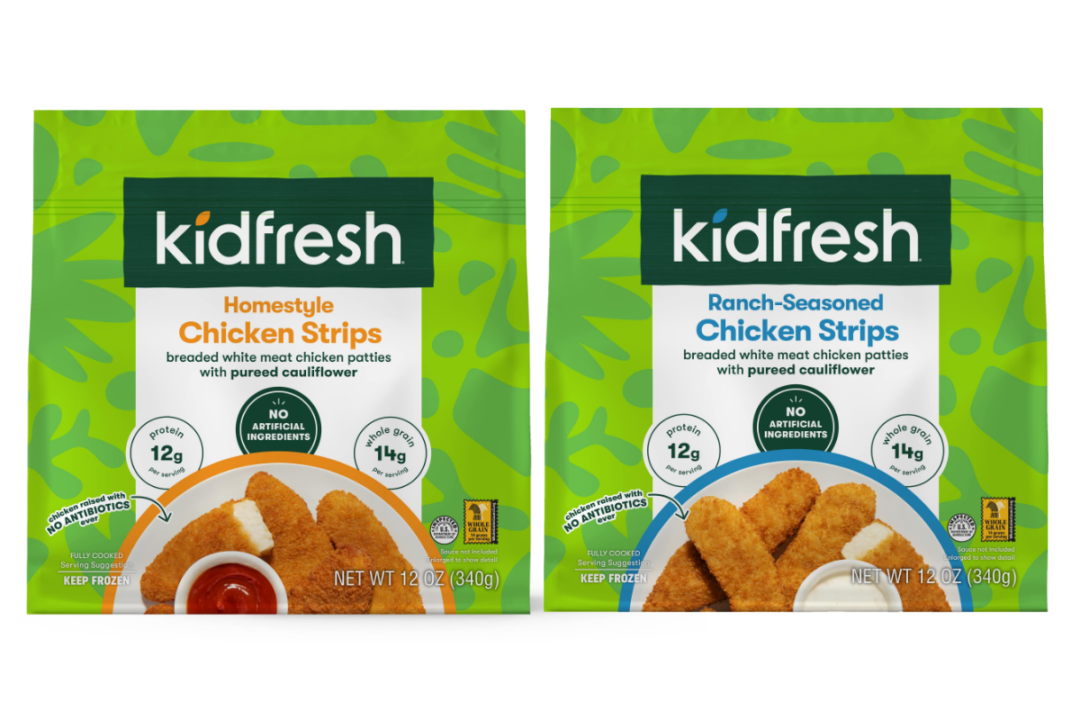 Homestyle- and ranch-seasoned chicken strips from Kidfresh