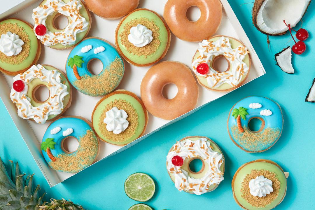Krispy Kreme Island Time Collection donuts