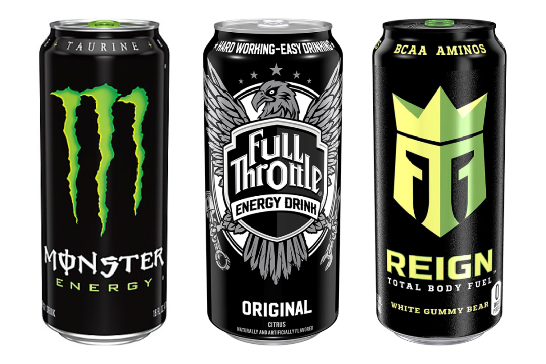 Monster, Full Throttle and Reign Total Body Fuel energy drinks from Monster Beverage Corp.