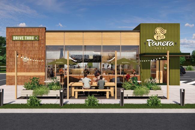 Panera next-gen restaurant exterior