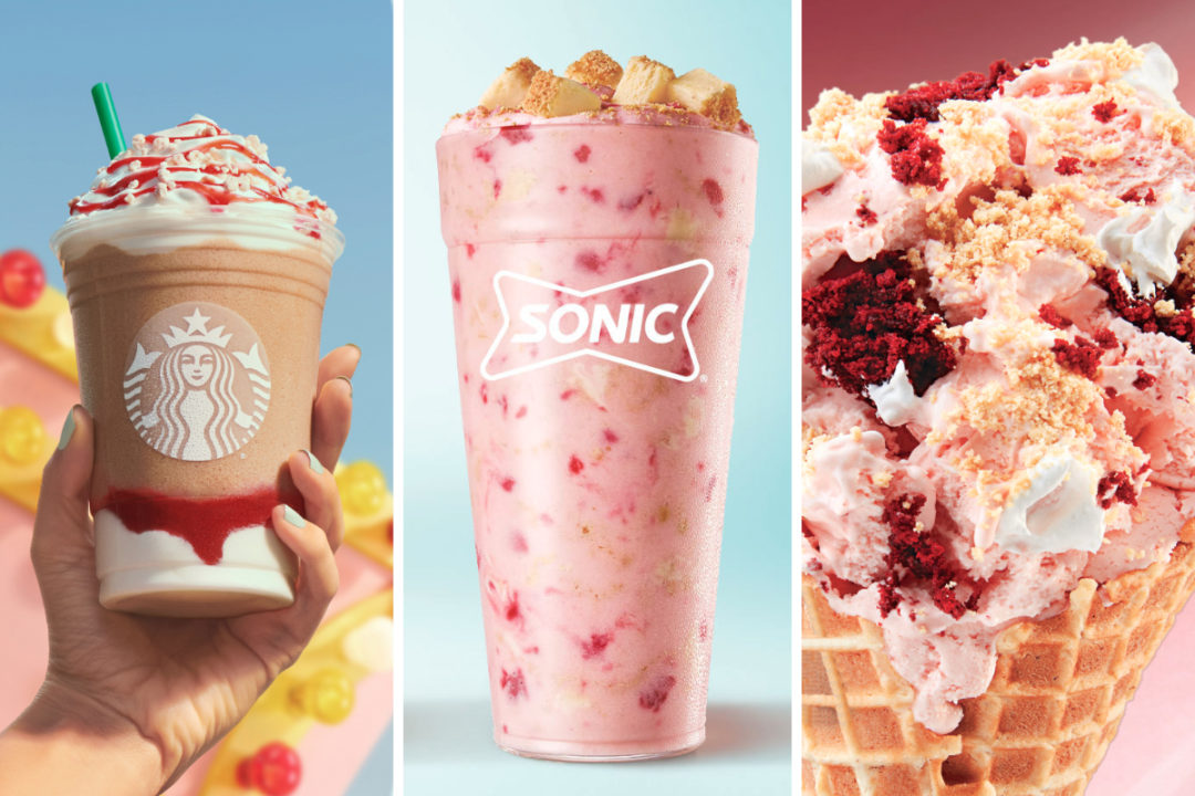 New menu items from Starbucks, Sonic, Cold Stone