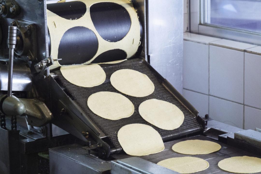 Tortilla manufacturing line