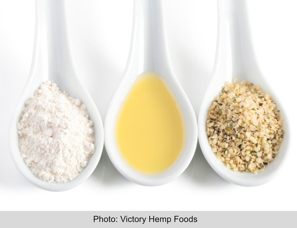 Victory Hemp Foods hemp ingredients in spoons