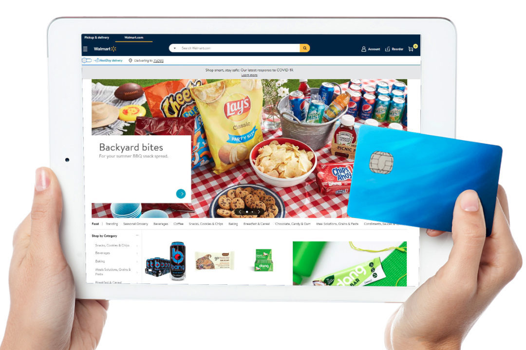 Shopping for groceries on Walmart website