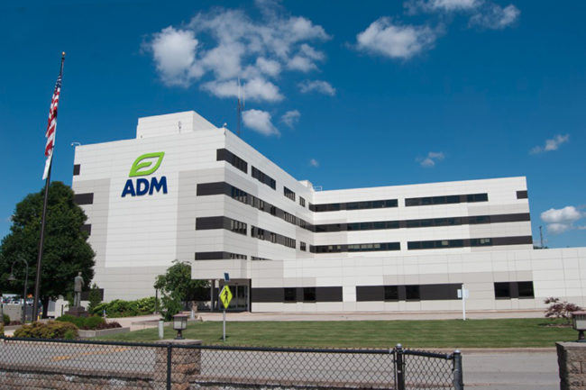 ADM facility with new logo