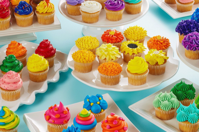 Iced cupcakes from Brill, Inc.