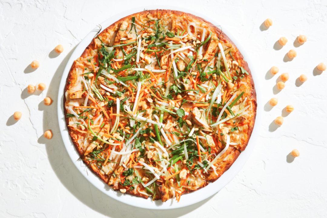 CPK chickpea crust pizza