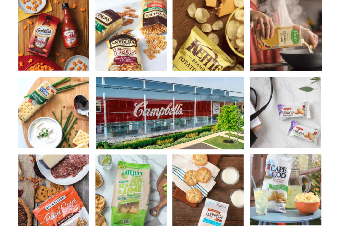 Campbell Soup products and headquarters grid