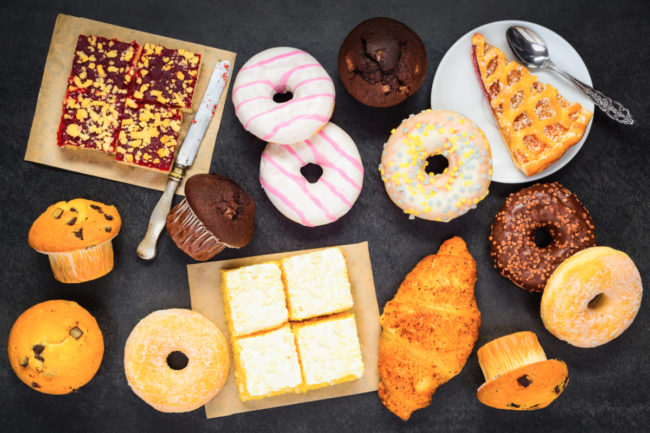 Sweet baked foods