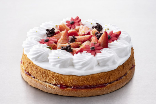 Cake with whipped topping