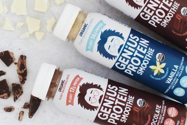 Genius Juice protein coconut smoothies