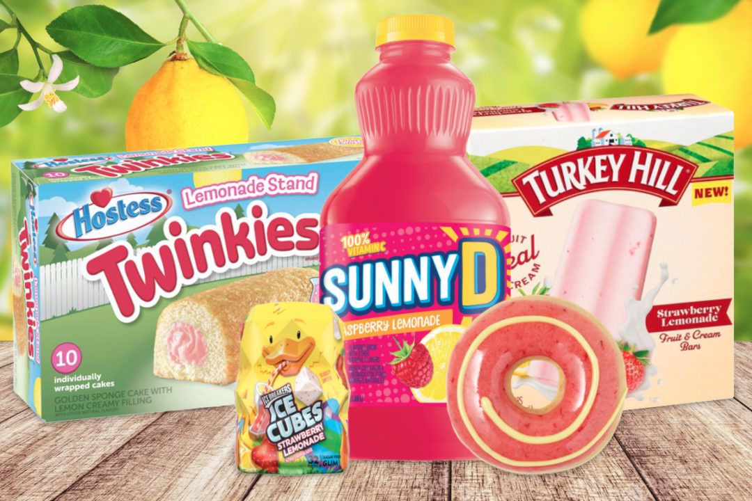 Lemonade flavored products and menu items