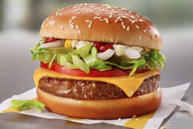 McDonald's PLT plant-based burger