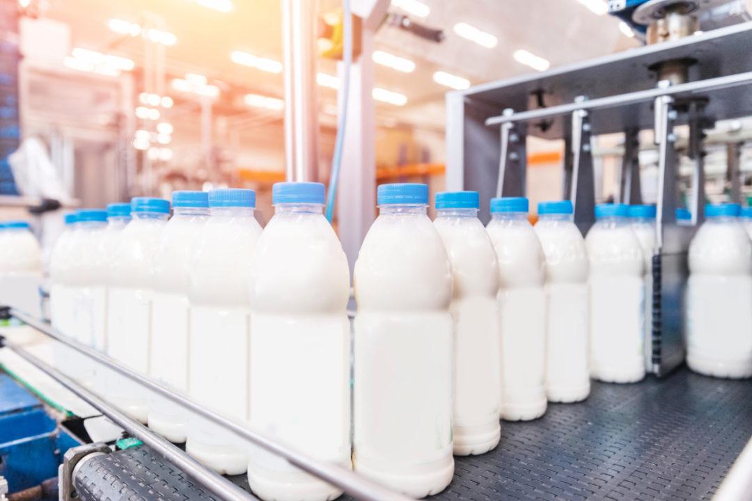 Milk bottle production line