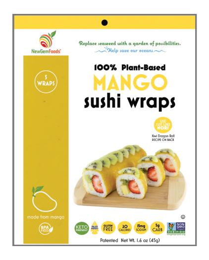 Wrap sushi à la mangue de New Gem Foods