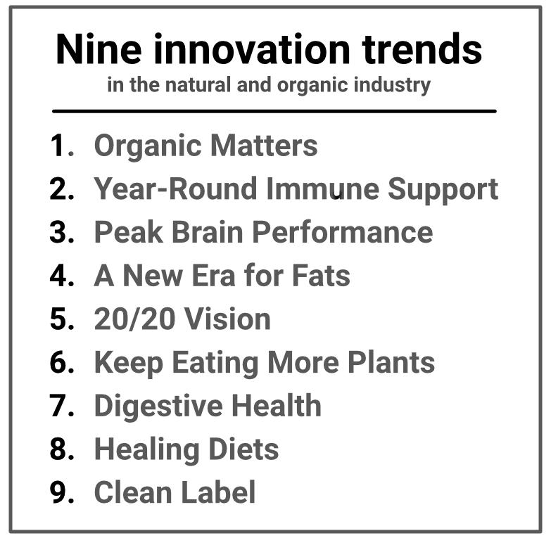 Nine trends list