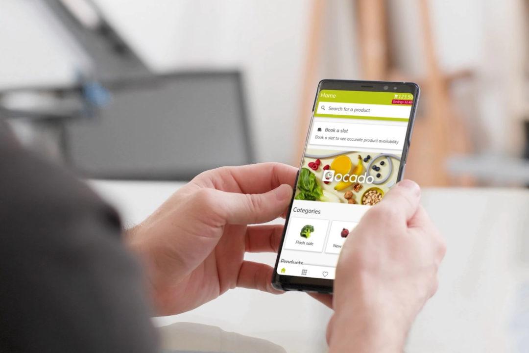 Ocado e-commerce on mobile phone