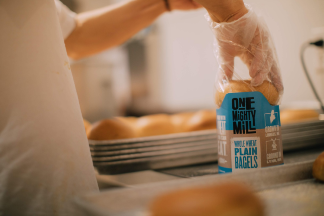 Fresh-milled flour used in One Mighty Mill's products