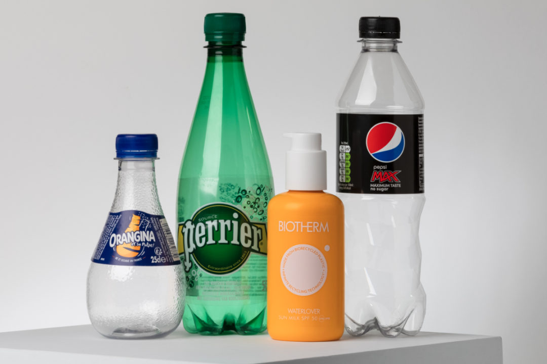 Recyclable bottles from Nestle SA, PepsicCo, Inc., Suntory Beverage & Food Europe and L'Oreal and working with Carbios