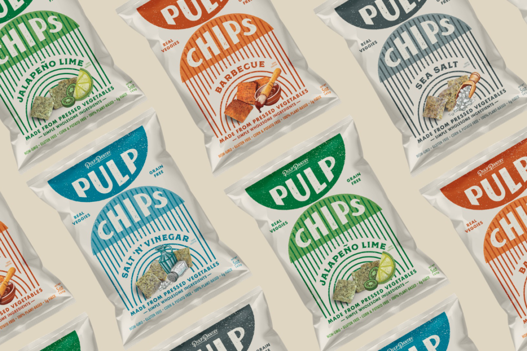 Variety of Pulp Pantry upcycled chips
