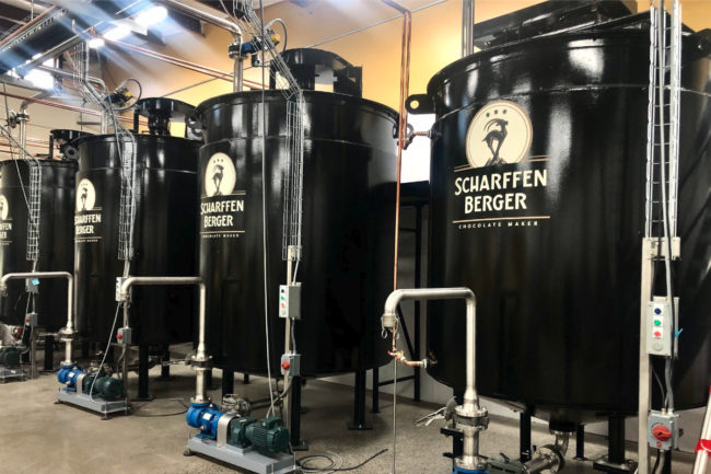Scharffen Berger chocolate making facility in Ashland, OR